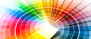 color wheel of paint samples