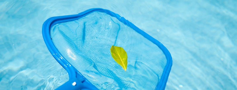 summer maintenance checklist - skimmer in the pool