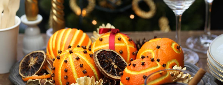natural holiday decorations - pomanders