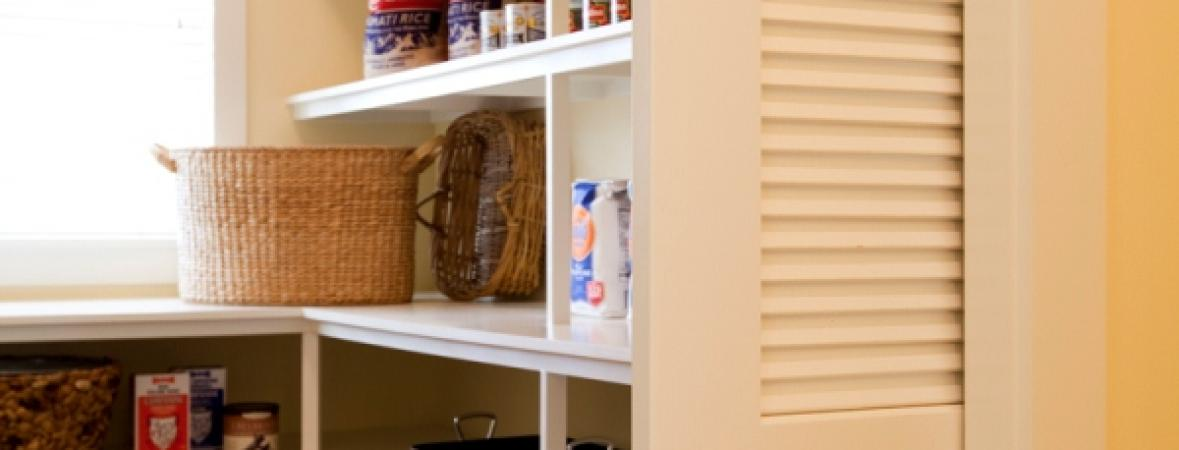 stocked butler's pantry