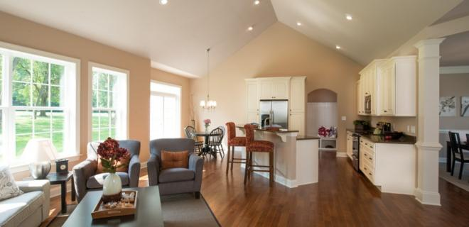 recessed lighting in a great room