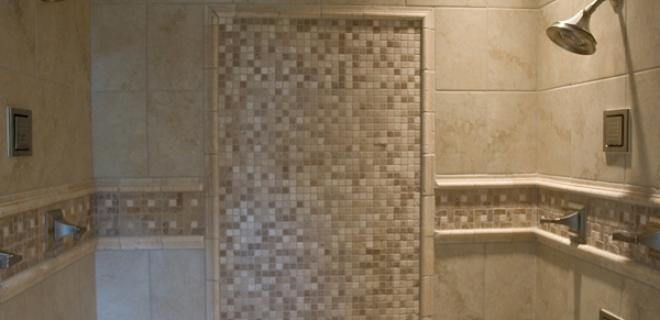 custom tile in walk-in shower