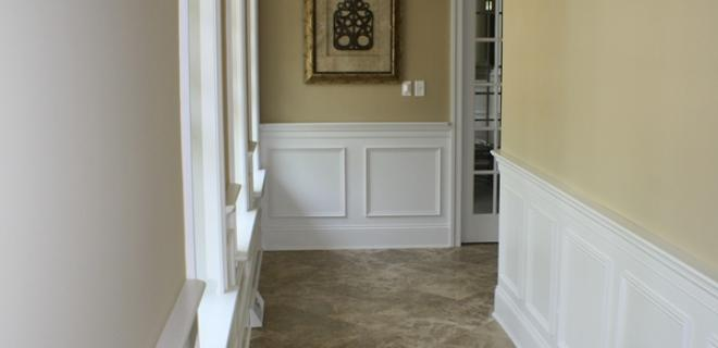 wainscoting in a hallway