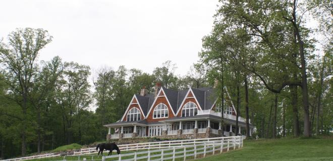 home of your dreams - large custom home on horse farm
