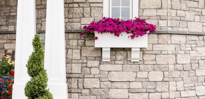 landscaping detail on custom home