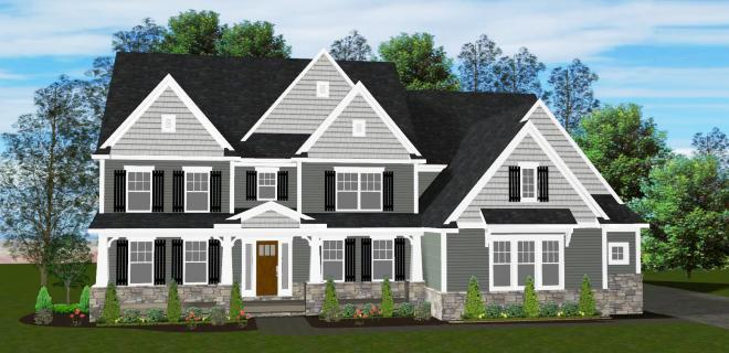 rendering of camden model home