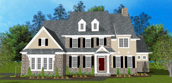 rendering of claremont model home