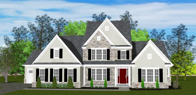 rendering of fenwick model home
