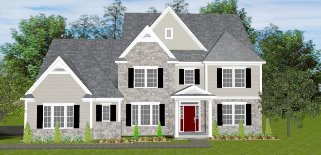 rendering of portland model home