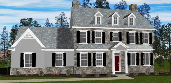 rendering of arlington model home