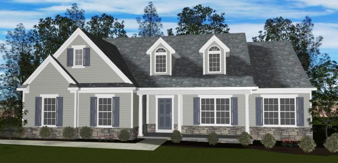 rendering of ashburn model home