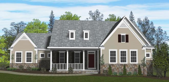 rendering of ashville model home