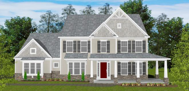 rendering of charleston model home
