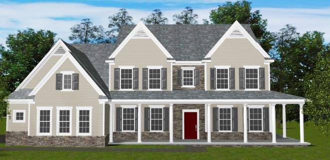 rendering of hamden model home