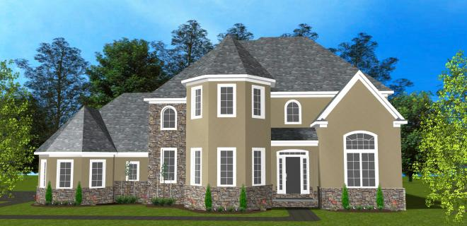 rendering of lamont model home