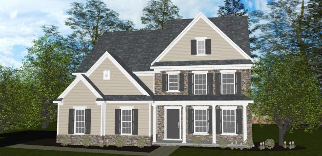 rendering of lexington model home