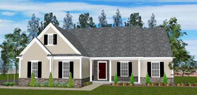 rendering madison model home