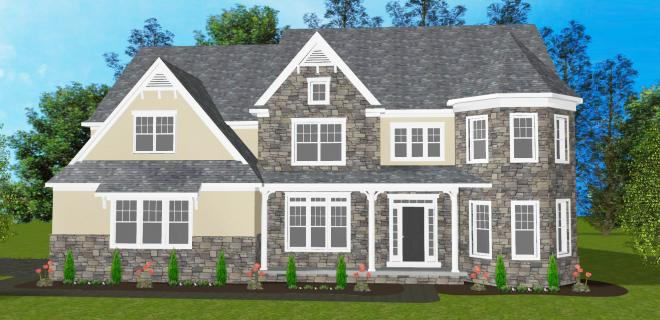 rendering of newport model home