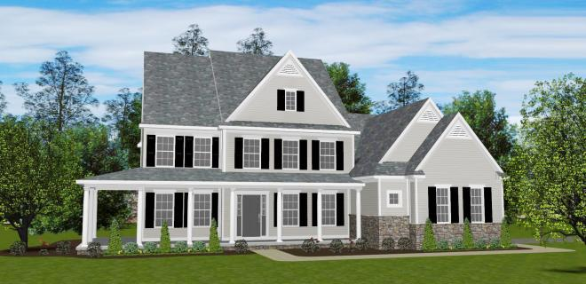 rendering of oliver model home