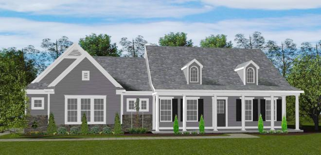 rendering of quincy model home