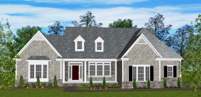 rendering of raleigh model home