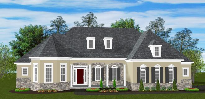 rendering of southport model home