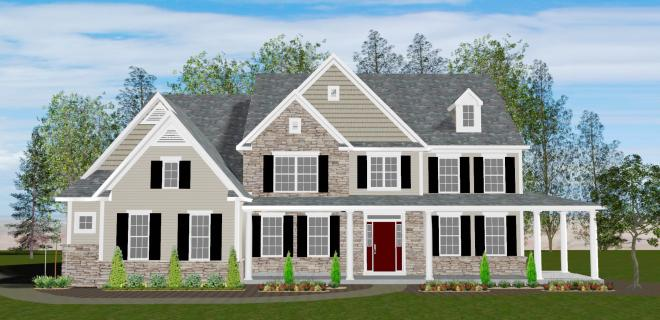 rendering of waterbury model home