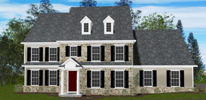 rendering of wilmington model home