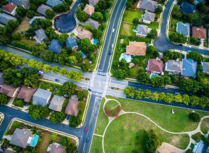 choosing a neighborhood - aerial view of neighborhood