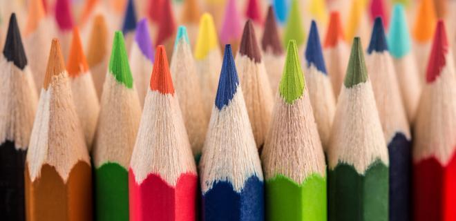 summer crafts - colored pencils