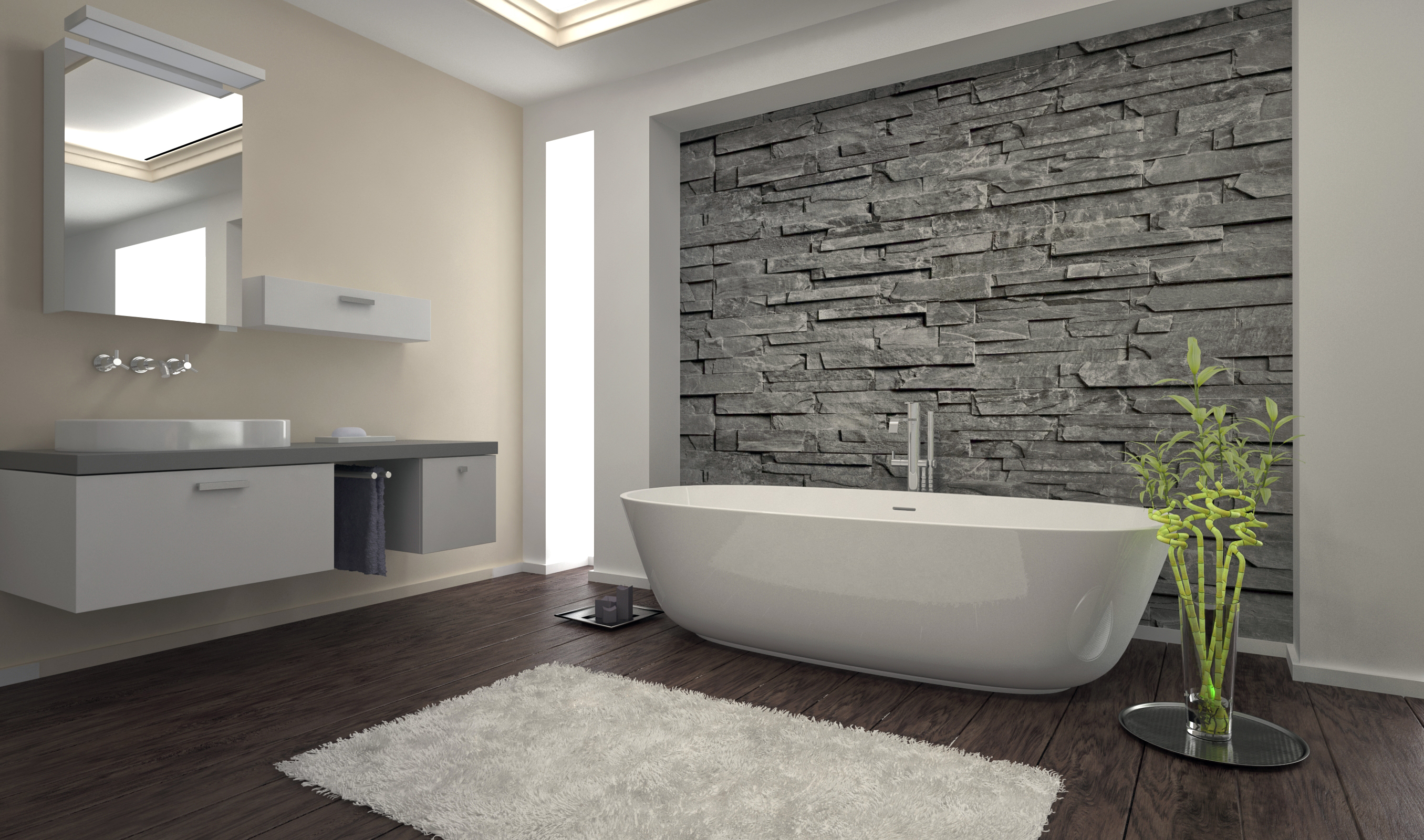 tips for rock wall interior that works custom home group. Black Bedroom Furniture Sets. Home Design Ideas