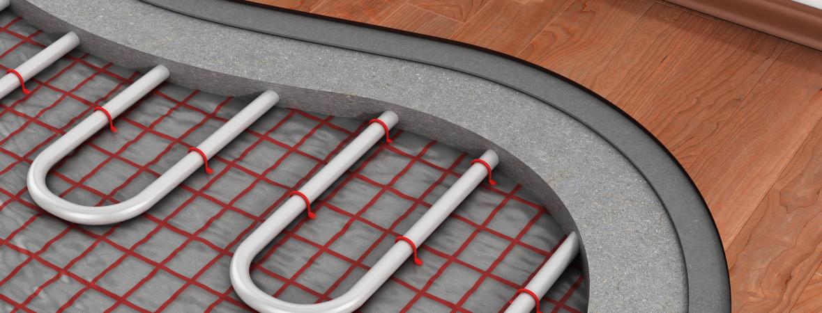 radiant heating - layers of radiant heating installation