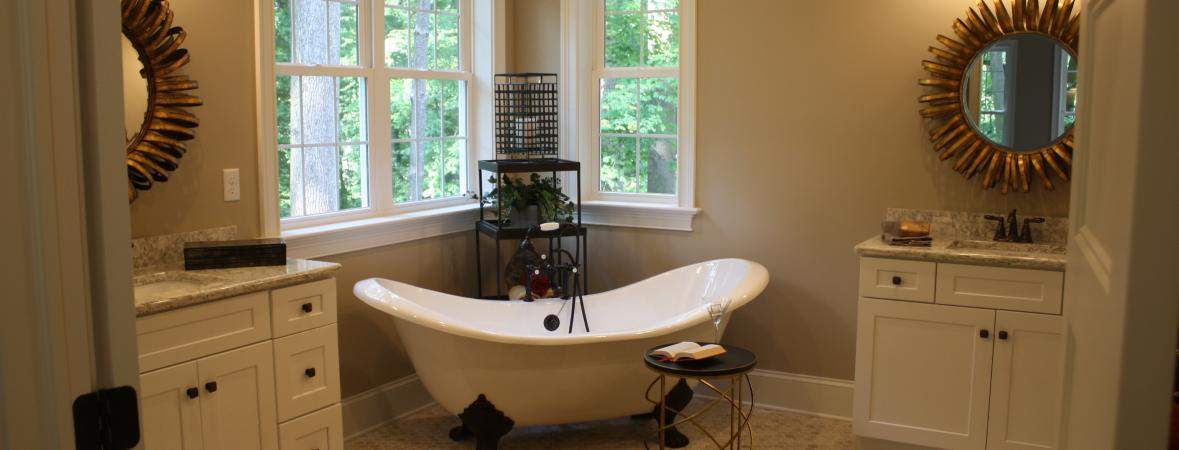 master bathroom with claw-foot tub