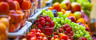 palmyra - food at an outdoor farmer's market
