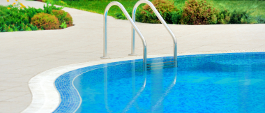 swimming pool pros and cons - pool with stairs