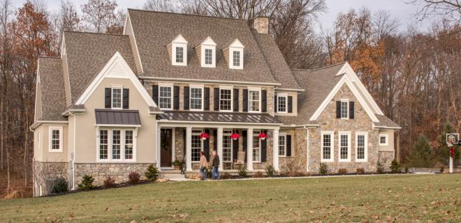 benefits of building a custom home - beige home with stone