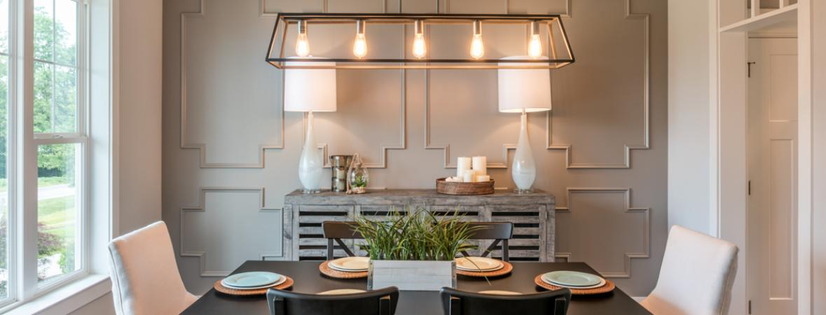 dining room with neutral wall colors