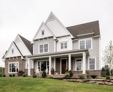curb appeal - custom home in lancaster