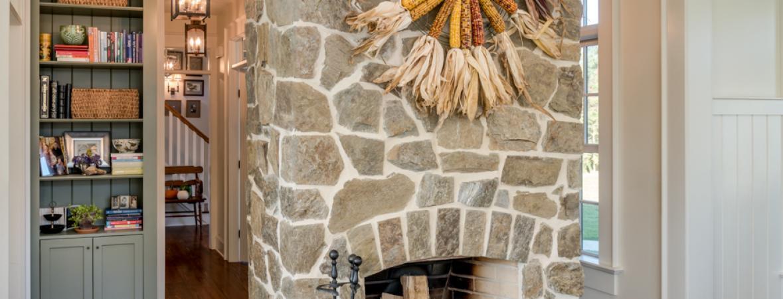 Interior Stone Veneer On Fireplace