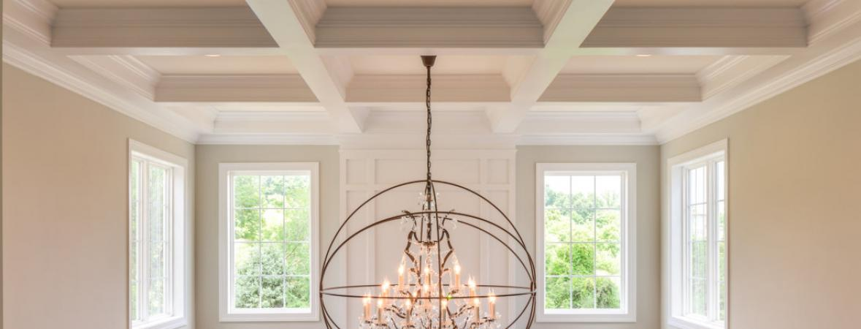 artisan chandelier in quarryville custom home