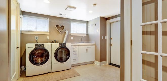 laundry room placement - spacious laundry room