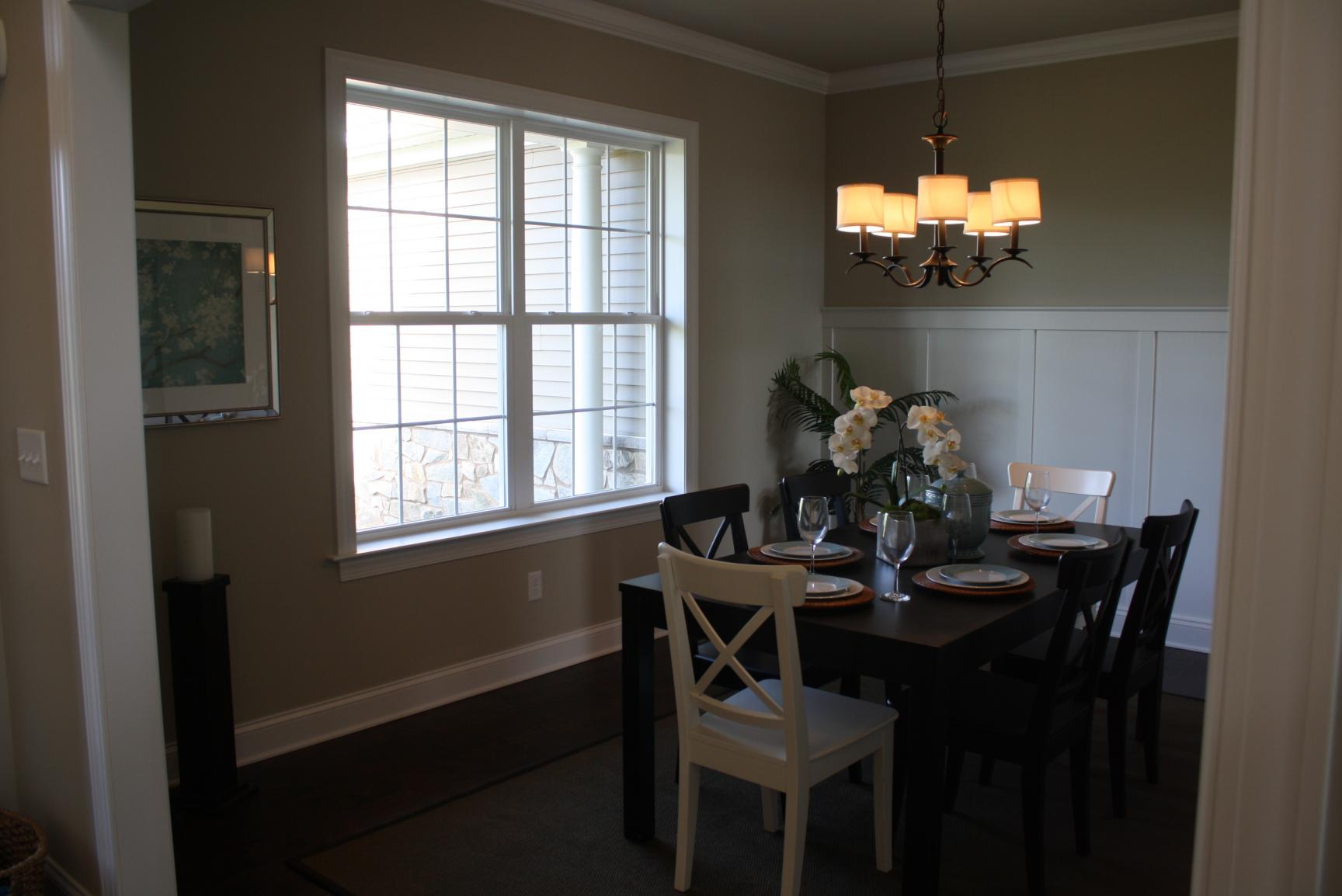 windows in a dining room
