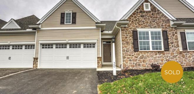 custom townhome in lancaster sold