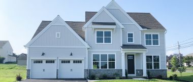 custom home with 2-car attached garage