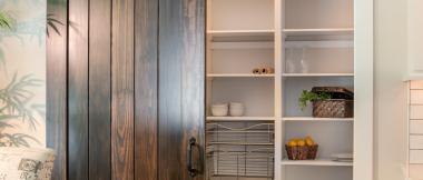 walk-in pantry with sliding barn door