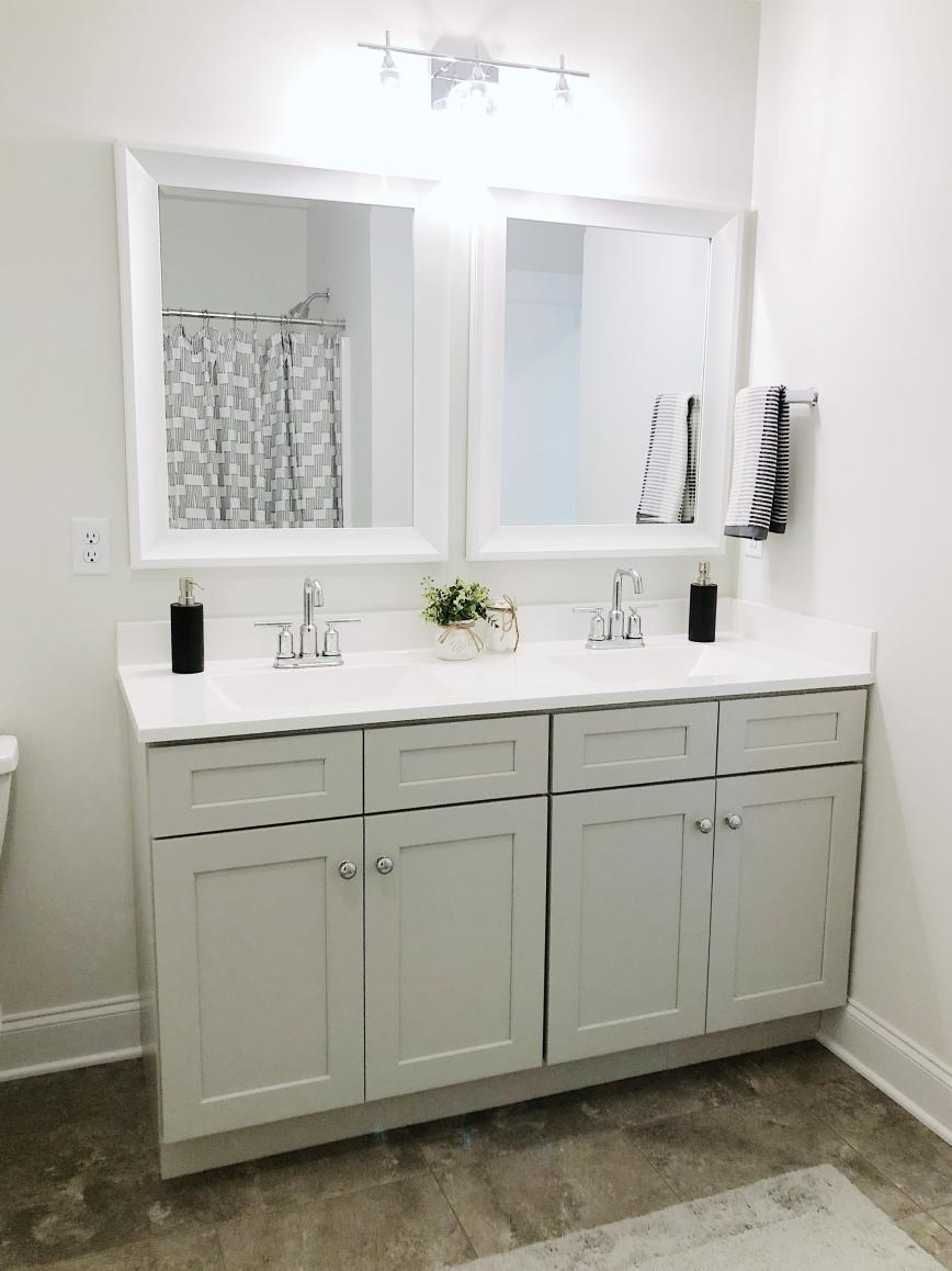 double vanity in bathroom