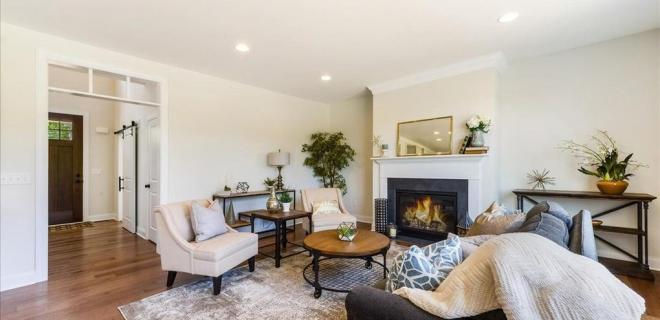 great room with fireplace
