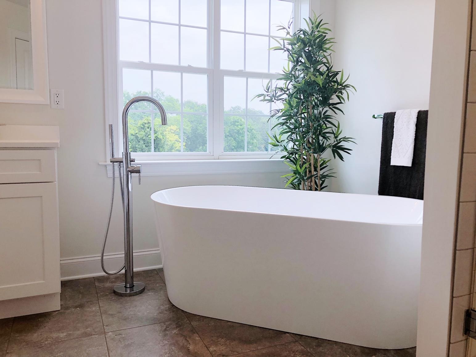 freestanding tub in master bath