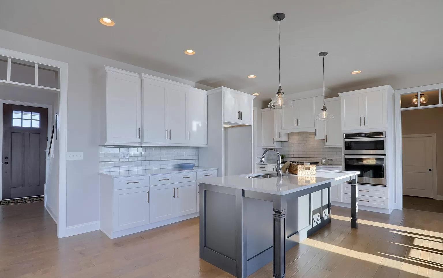 kitchen with kitchen island