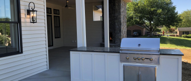 rear porch with outdoor kitchen